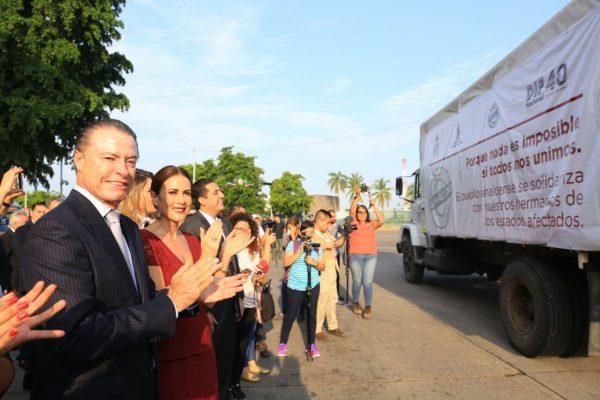Sinaloa envía 200 tons de apoyos a damnificados por los sismos