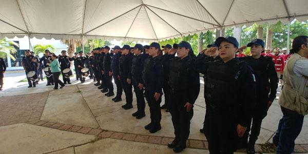 Toman protesta 20 elementos para las filas la unidad preventiva