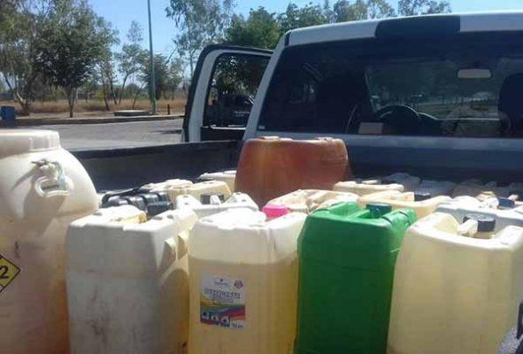 Recuperan más de 7 mil 300 litros de gasolina durante la última semana en Sinaloa