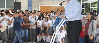 Inaugura Ayuntamiento Aula de Usos Múltiples de CETIS-107