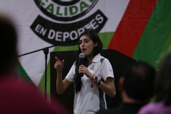 Paola Moncayo clausuró la reunión del Sistema Estatal del Deporte