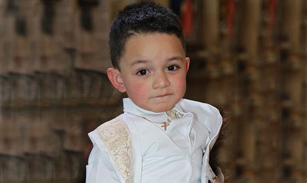 Diego recibió el primer sacramento