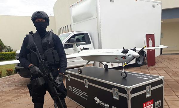 SSP presenta dos drones para vigilancia