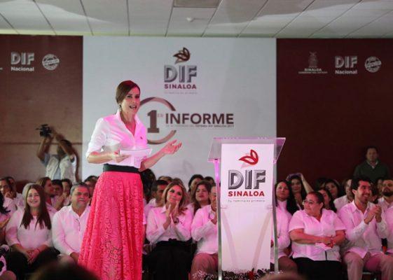 Presenta Rosy Fuentes primer informe del DIF-Sinaloa