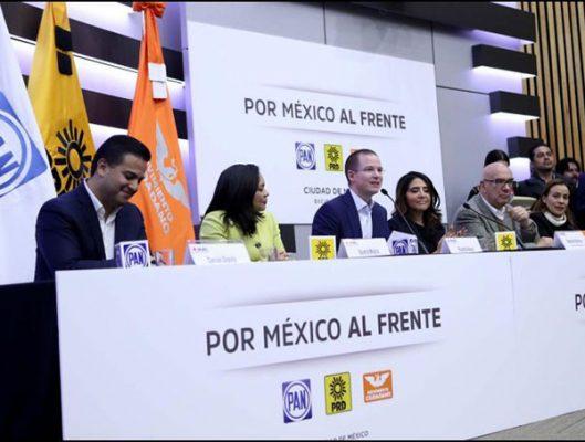 """Lista coalición """"Por México al Frente"""" anuncia PRD"""