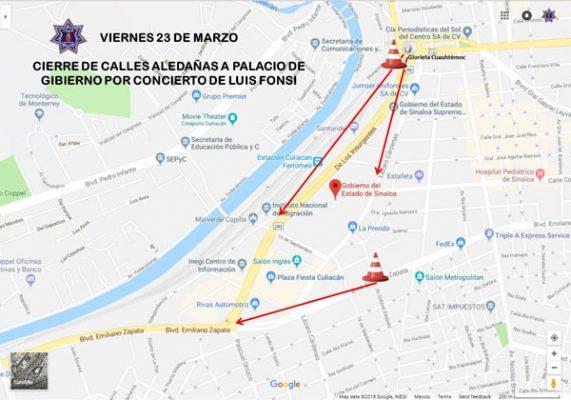 Cerrarán mañana calles aledañas al Palacio de Gobierno