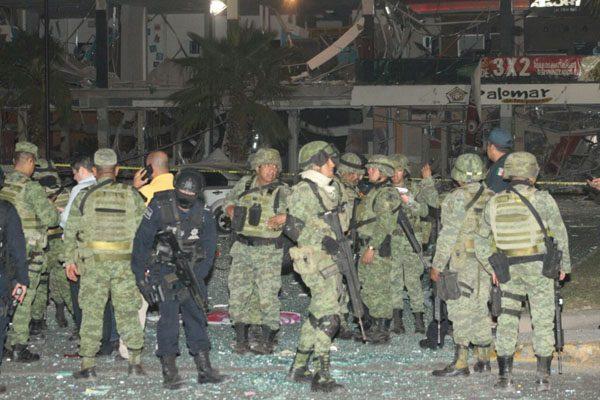 Se registra explosión en una plazacomercial de Culiacán