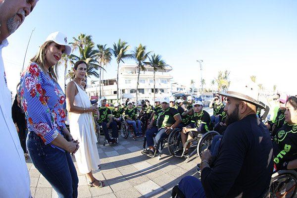 """Realiza DIF Sinaloa la Rodada en silla de ruedas """"Derribando Barreras"""""""