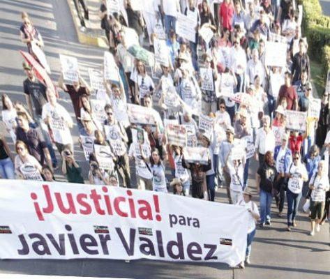 Marchan por el aniversario luctuoso de Javier Valdez