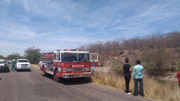 Se prende un camión de la ruta Villa Juárez-Cualicán