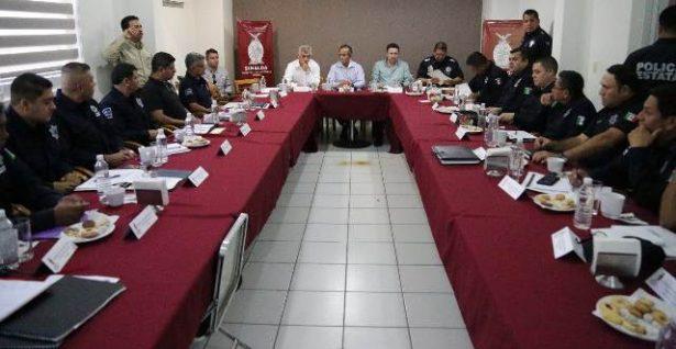 Reunión de mandos de la policía