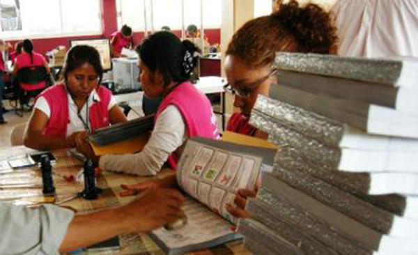 Serán recicladas las boletas electorales que no se utilizaron