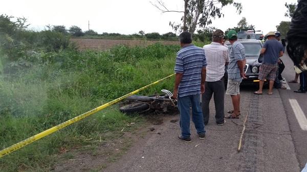 Muere un motociclista en el poblado de la Laguna de Canachi