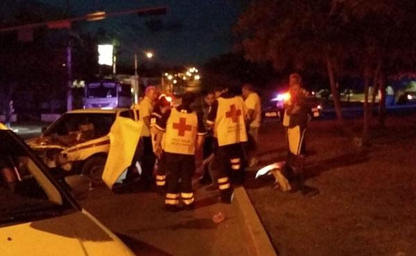 Dos personas lesionadas fue el resultado de un accidente