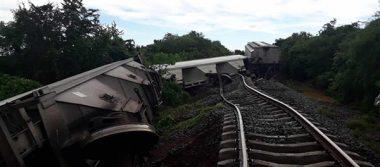 Se descarrila el tren carguero en el municipio de Mocorito