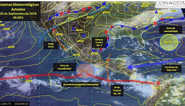 Tormentas muy fuertes e intensas pronostican para Sinaloa