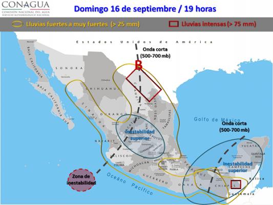 Zona de inestabilidad frente a Guerrero genera lluvias