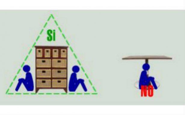 Triángulo de vida, técnica para salvarte en caso de sismo