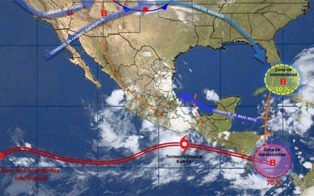 Se forma tormenta tropical Ramón al sur de las costas de Oaxaca