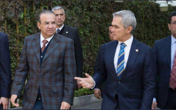 Mancera y Navarrete Prida se reúnen para hablar de seguridad