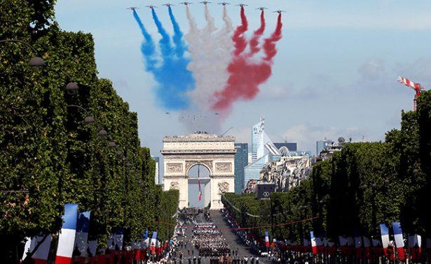 El desfile del 14 de julio en París selló  el acercamiento entre Macron y Trump