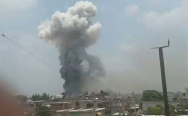 Tultepec es testigo de otra explosión de pirotecnia; no se reportan heridos