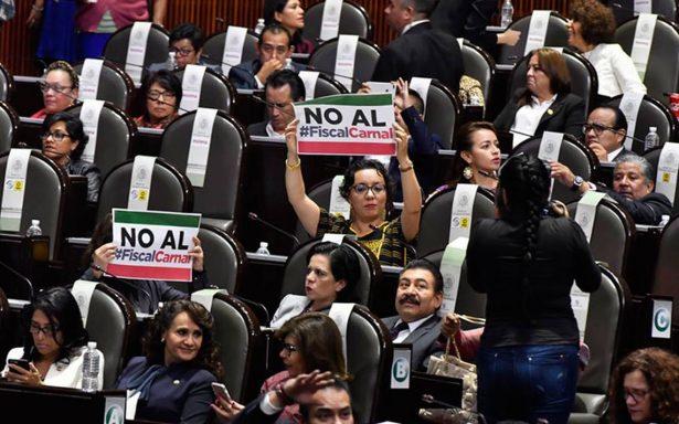 Oposición formará bloque contra pase automático del Fiscal General