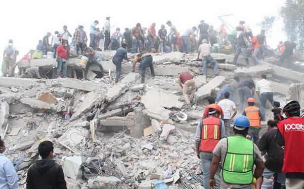 Saldo del sismo en la CDMX: 94 muertos, más de 800 lesionados y 214 desaparecidos