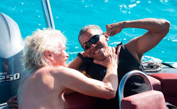 Obama se relaja en isla paradisíaca