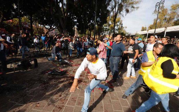 Coyoacán culpa a operadora de Morena por violencia en mitin de AMLO