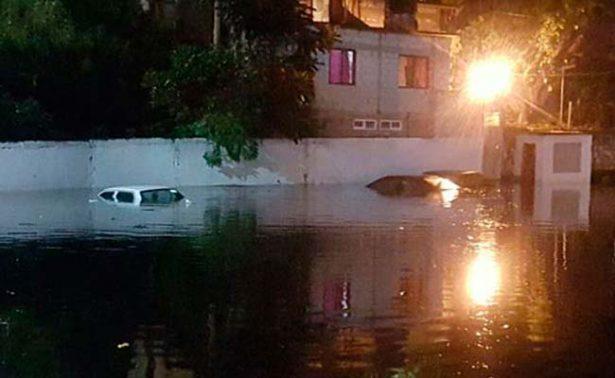 Por fuertes lluvias, casas aledañas al Paso Express se inundan