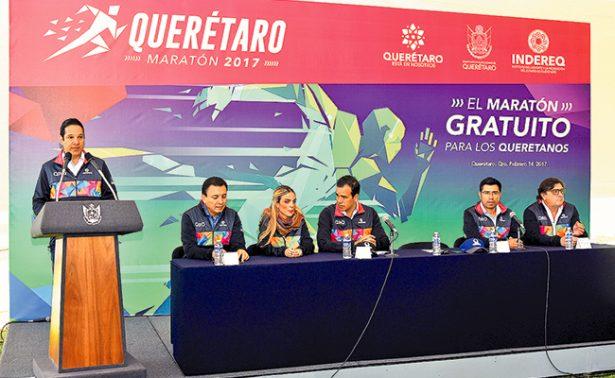 Anunció gobernador de Querétaro el Maratón 2017