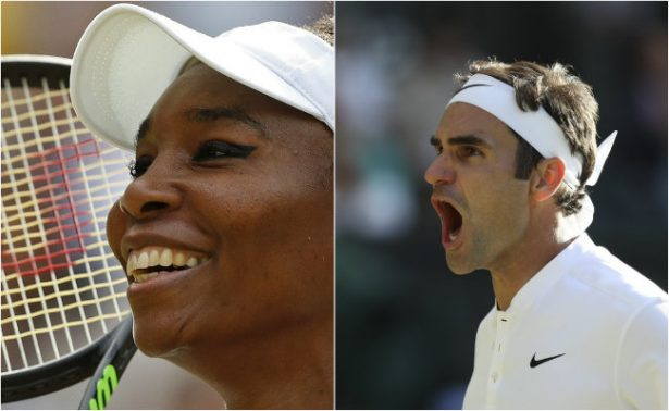 Williams y Federer marcan su camino a la final del Wimbledon 2017