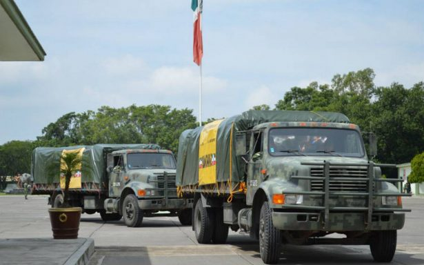 Reitera el Ejército compromiso con los mexicanos en desgracia