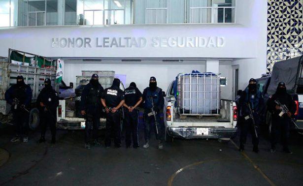 Caen 2 policías coludidos con huachicoleros de Puebla