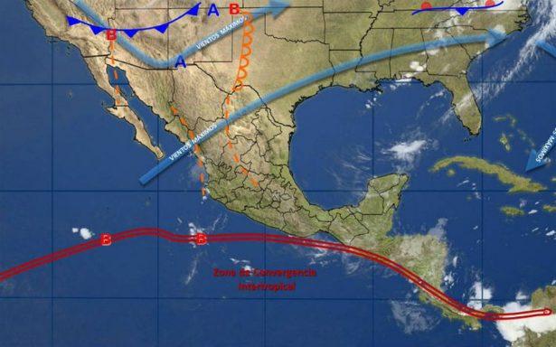 Tres fenómenos propiciarán lluvias en la mayor parte del país