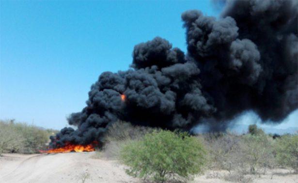 Explota oleoducto de Pemex en Sonora; controlan incendio en 2 horas