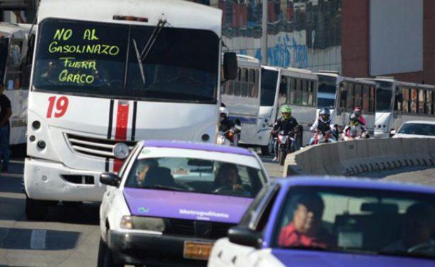 Marcha contra gasolinazo en Aut. México-Cuernavaca