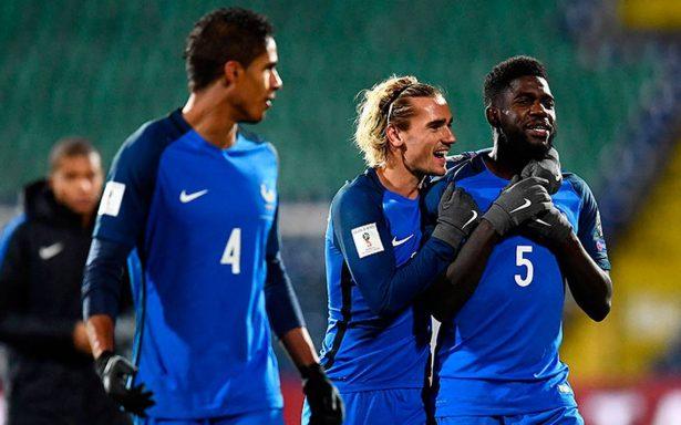 Francia se enfila al Mundial tras vencer por la mínima a Bulgaria
