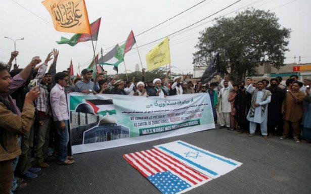 Por cuarto día consecutivo, miles protestan contra declaración de Trump sobre Jerusalén