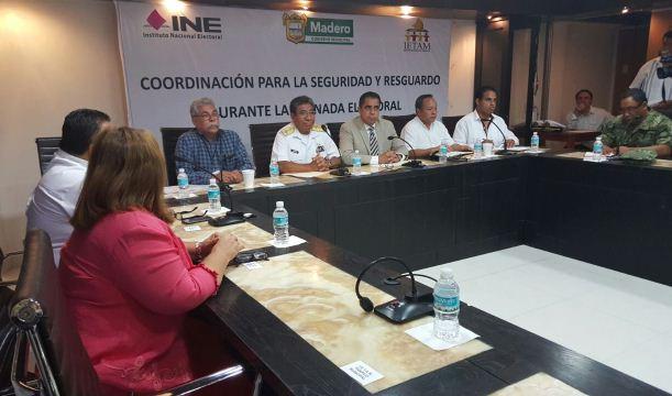 Sostienen en Madero Reunión de Seguridad en Torno a las Elecciones