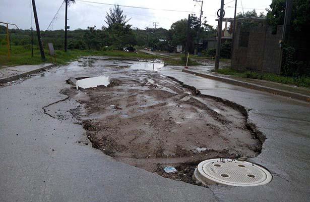 Colapsan Calles en el Sur de Altamira