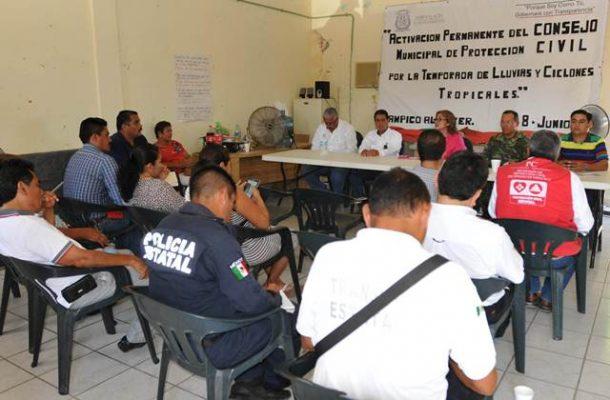 Activan en Tampico Alto el Consejo de Protección Civil