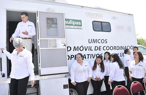 Recibió Salud Unidad Móvil Para Coordinar Operativos
