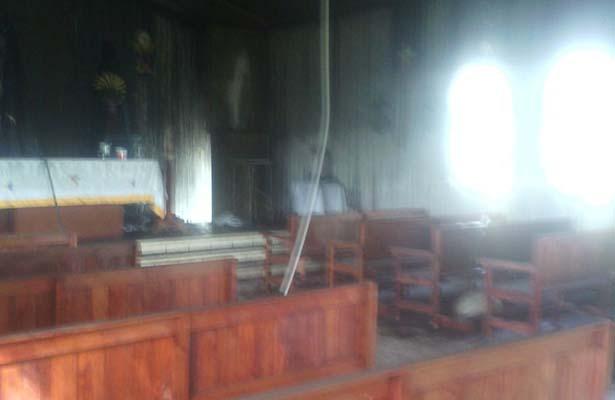 Vandalizan Iglesia en Fraccionamiento Santa Elena de Altamira