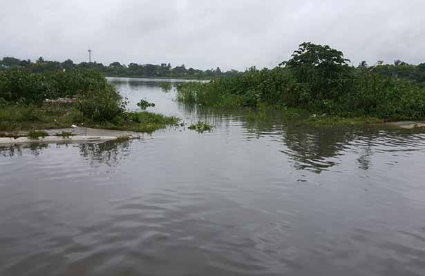 Desbordamiento en Lagunas de Cd. Madero