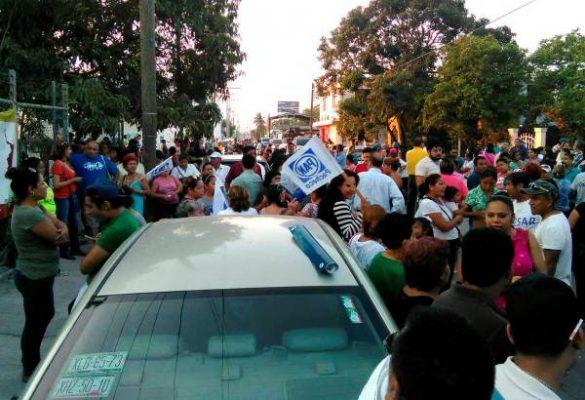 Seguidores Panistas Protestan en el Ietam, No Reconocen Triunfo Priista