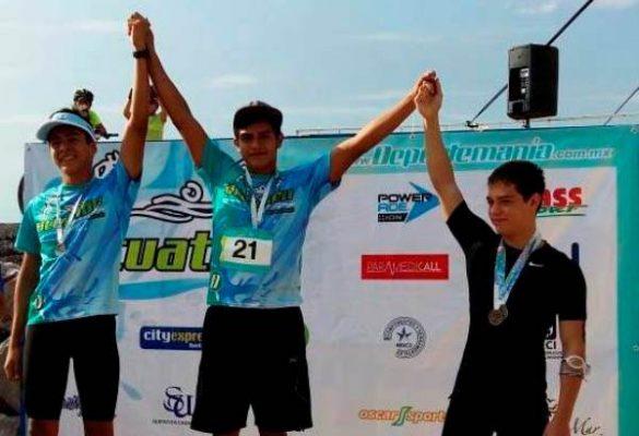 Eduardo Moctezuma Ganó en su Categoría el Pasado Acuatlón en Miramar