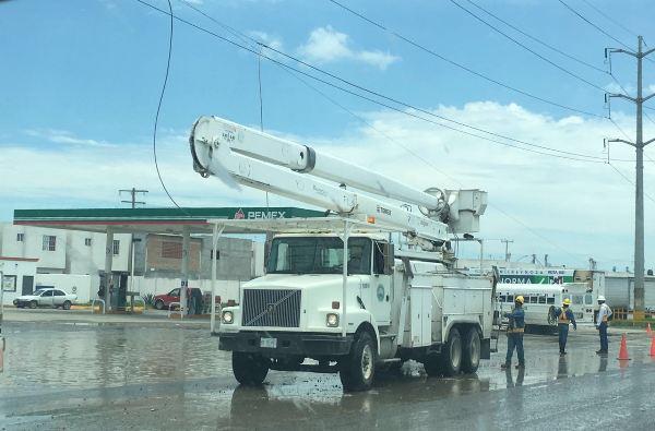 Tromba en Reynosa Deja sin Electricidad a 52 Sectores