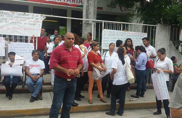 Exigen Reinstalación de Trabajadores de Unidades Médicas Móviles en Pánuco